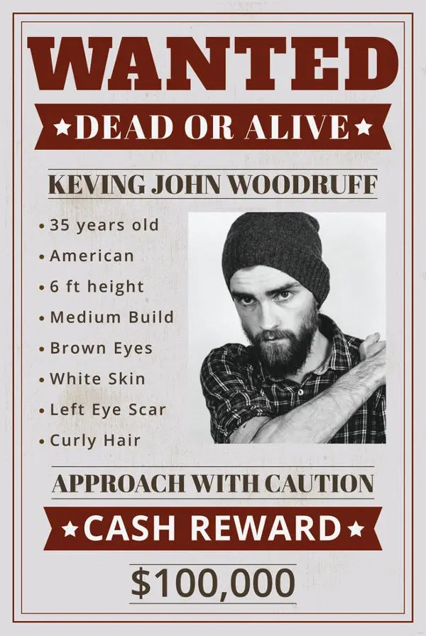 18+ Funny Wanted Posters - Free Printable, Sample, Example, Format - example of a wanted poster
