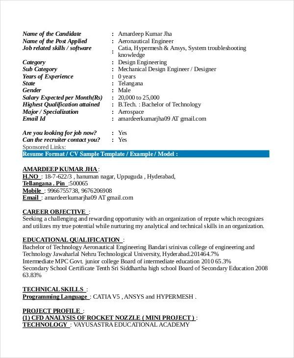 9+ Fresher Resume Templates in PDF Free  Premium Templates