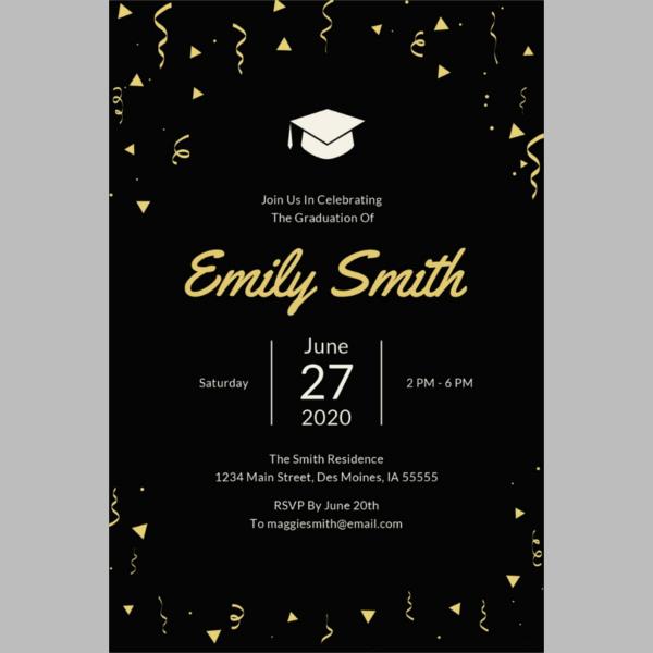 43+ Printable Graduation Invitations Free  Premium Templates - graduation photo invitations