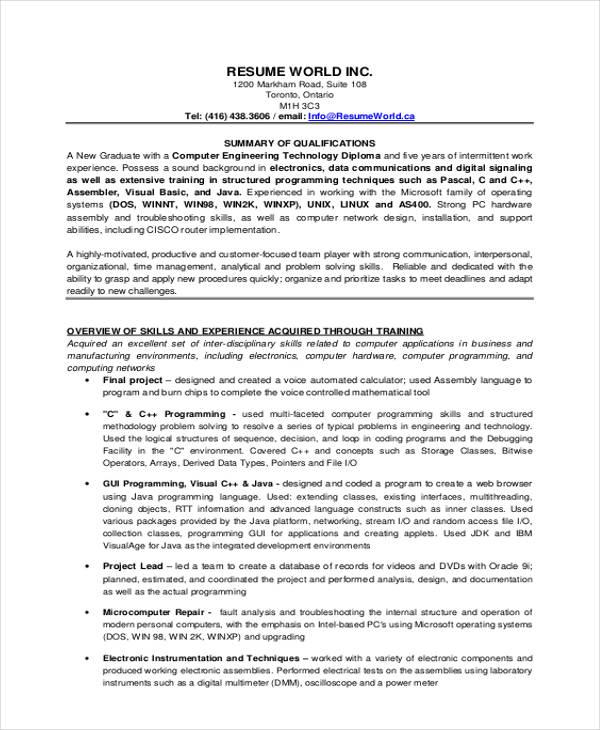45+ Download Resume Templates - PDF, DOC Free  Premium Templates - resume temples