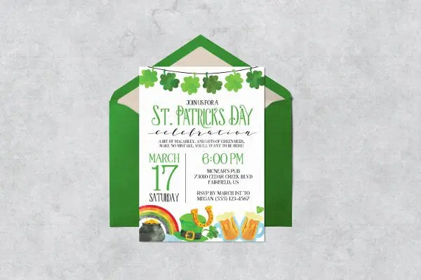 10 St Patricks Day Invitation Templates Psd Ai Free