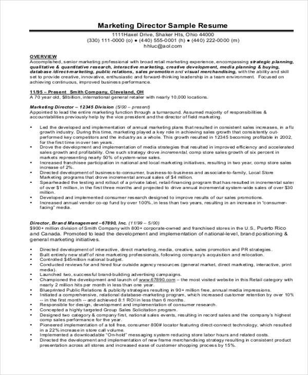 30+ Simple Marketing Resume Templates - PDF, DOC Free  Premium - product marketing resume