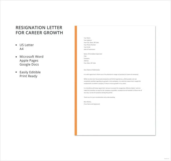 9+ Official Resignation Letter Template - 9+ Free Word, PDF Format