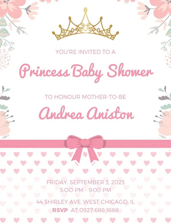 59+ Unique Baby Shower Invitations Free  Premium Templates