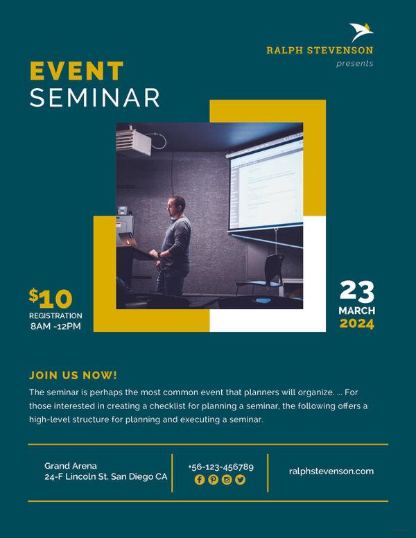 Flyer Designs Free  Premium Templates - seminar flyer