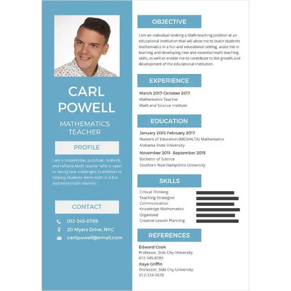 Teacher Resume Examples - 23+ Free Word, PDF Documents Download - resume teacher