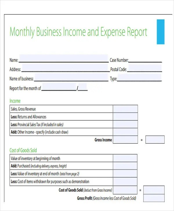 28 Expense Report Templates Free  Premium Templates