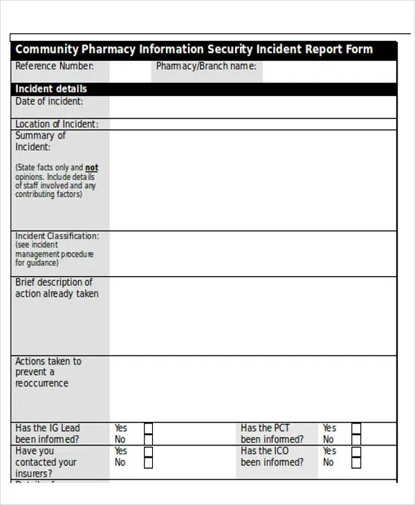 computer incident report template - Minimfagency - incident reporting template