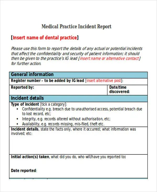 39+ Incident Report Templates in Word Free  Premium Templates