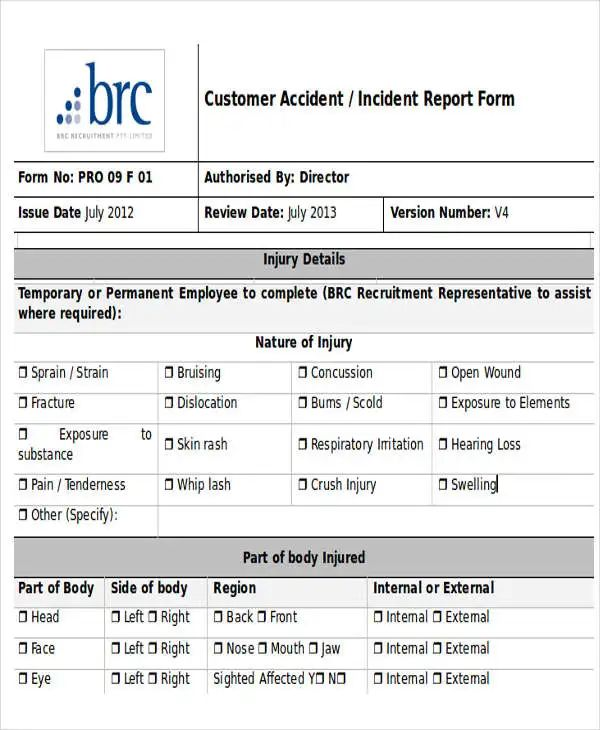 dhhs incident report
