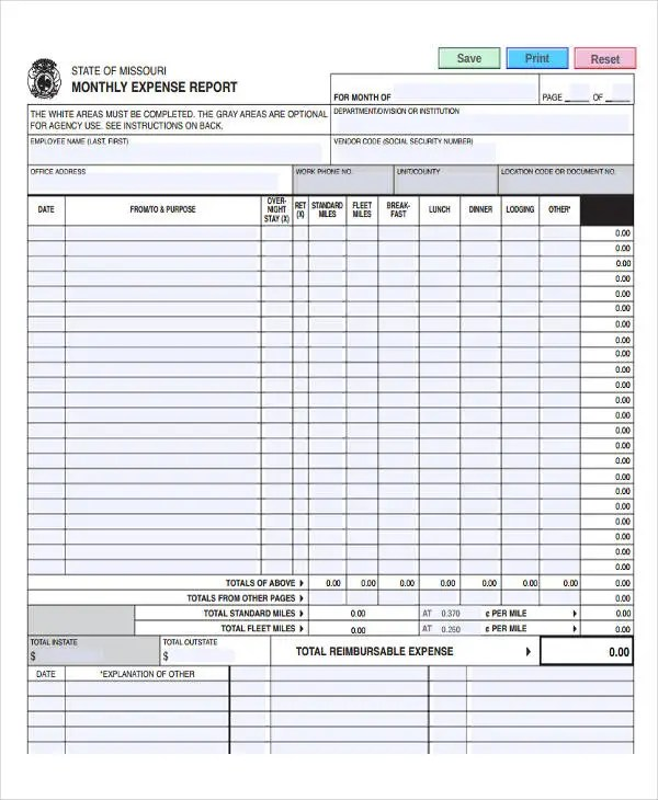 35+ Expense Report Templates - Word, PDF, Excel Free  Premium