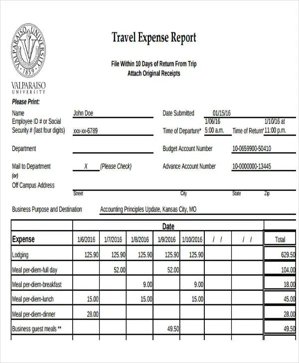 Sample Expense Reports Free Expense Report Templates Smartsheet - sample travel expense report