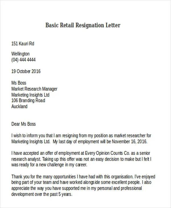 resigning letter | lukex.co