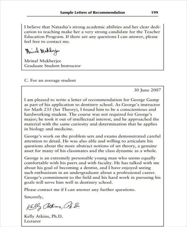 9+ High School Recommendation Letter Template - 10+ Free Word, PDF