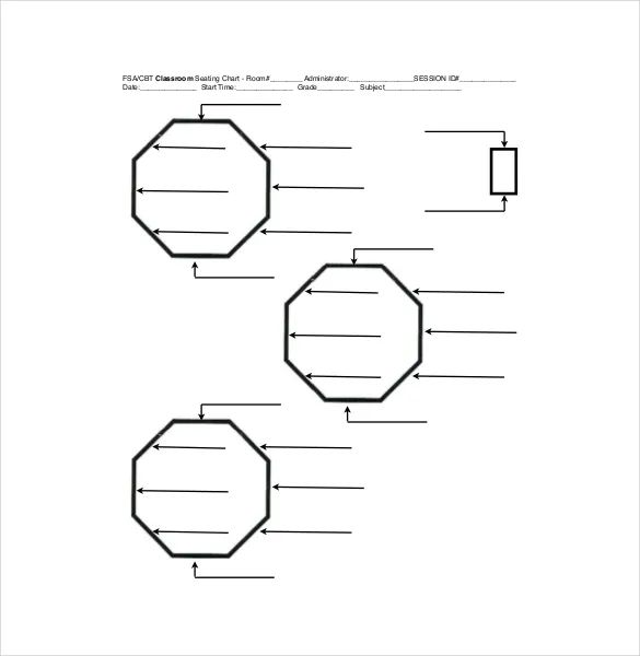 seating chart template classroom
