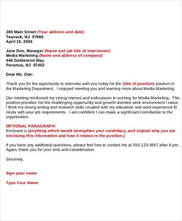 9+ Sample Formal Thank-You Letter - Free Sample, Example Format