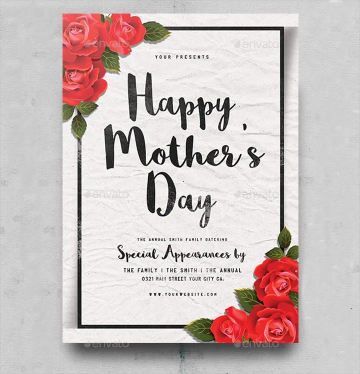 50+ Premium Mother\u0027s Day Templates- Flyer, Greeting cards, Gift - mothers day flyer