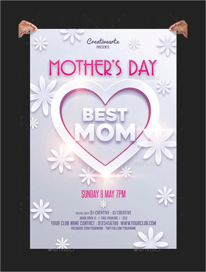 50+ Premium Mother\u0027s Day Templates- Flyer, Greeting cards, Gift