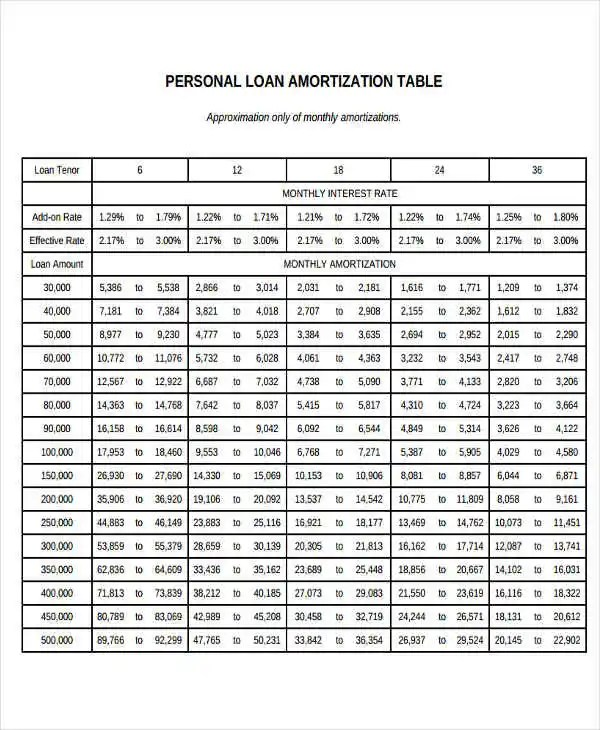 25+ Amortization Schedule Templates Free  Premium Templates