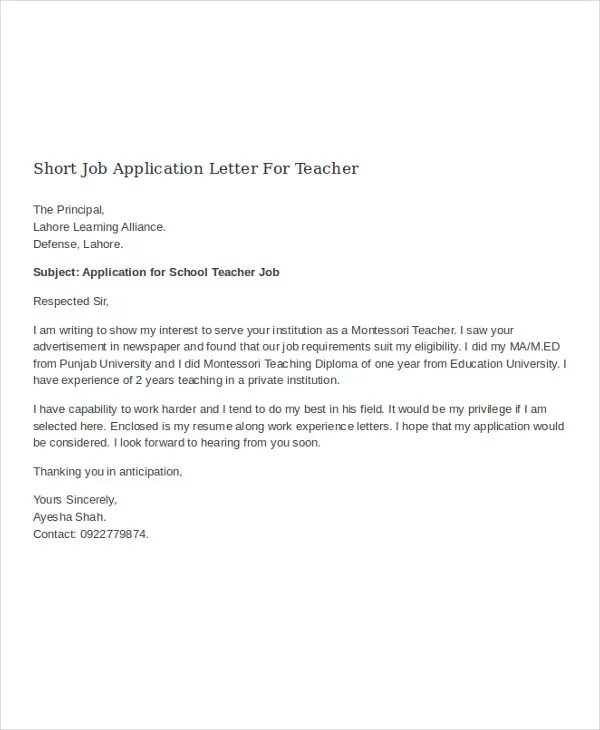 Application Letter Employment Application Cover Letter Employment - letter of employment