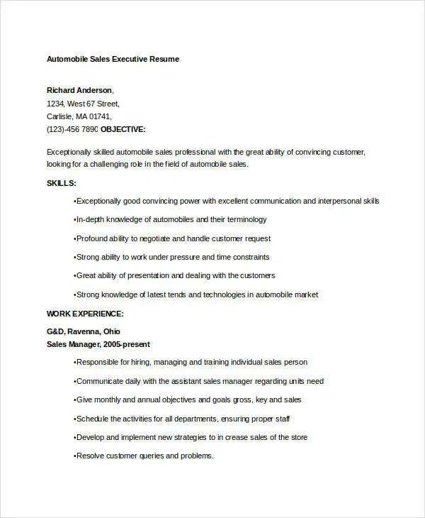 cover letter sales executive resume sales executive resume templates 9 free word pdf format sales executive resume