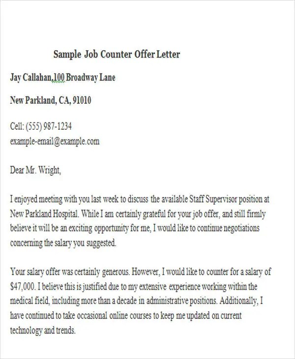 42+ Sample Offer Letter Template Free  Premium Templates
