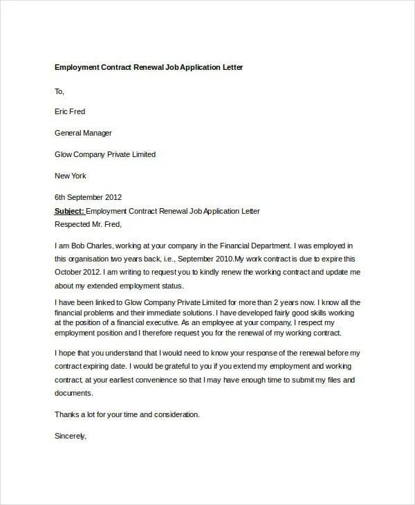 Sample Letter Of Support For Tourist Visa Application 8 Job Application Letter Template For Employment 10