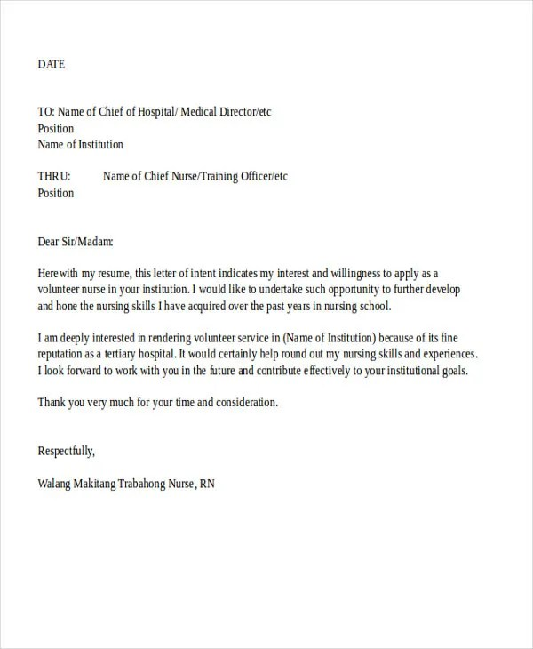 Job Application Letter Format Samples Examples 9 Job Application Letters For Nurse 9 Free Word Pdf