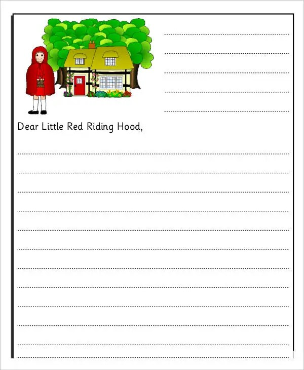 Letter Writing Template For Kids Choice Image - Template Design Ideas