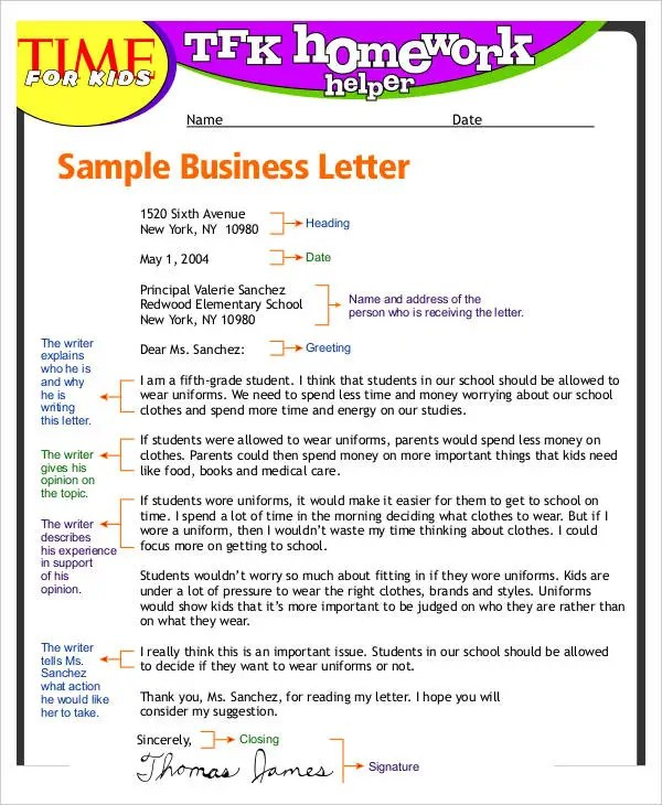 7+ Letter Templates for Kids - Free Word, PDF Documents Download