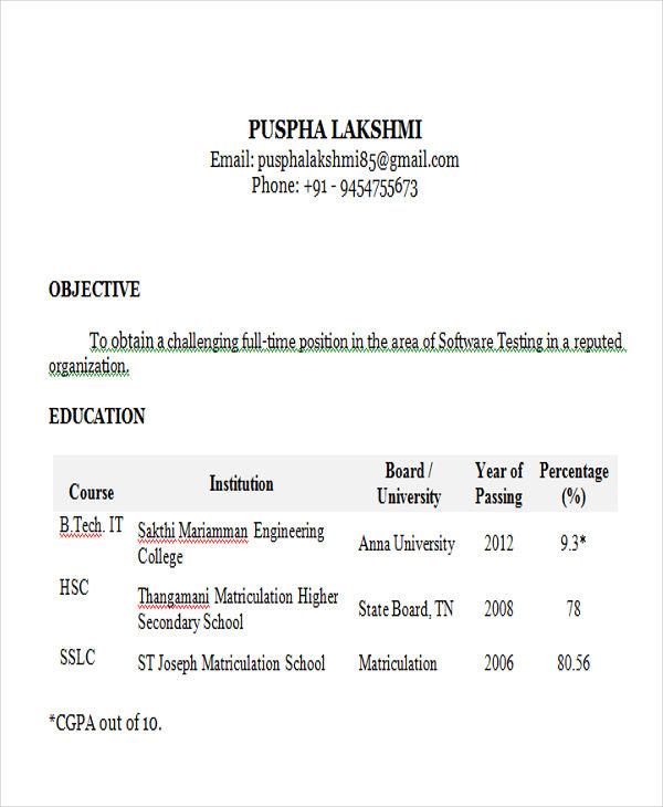 testing resume sample software software test engineer resume