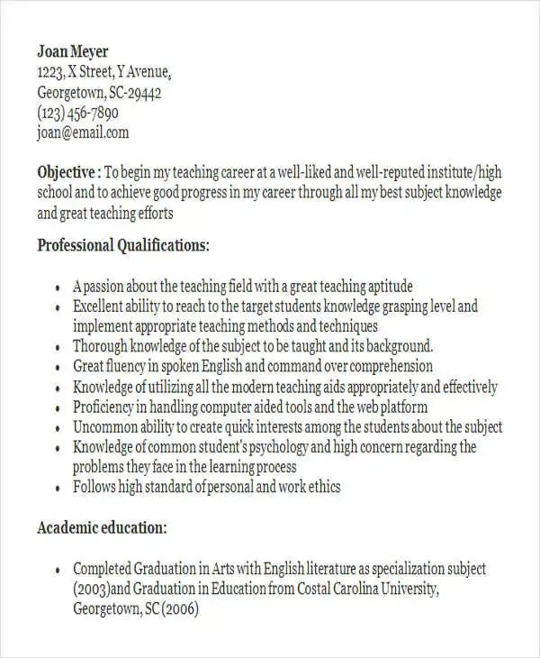 reference page of resume