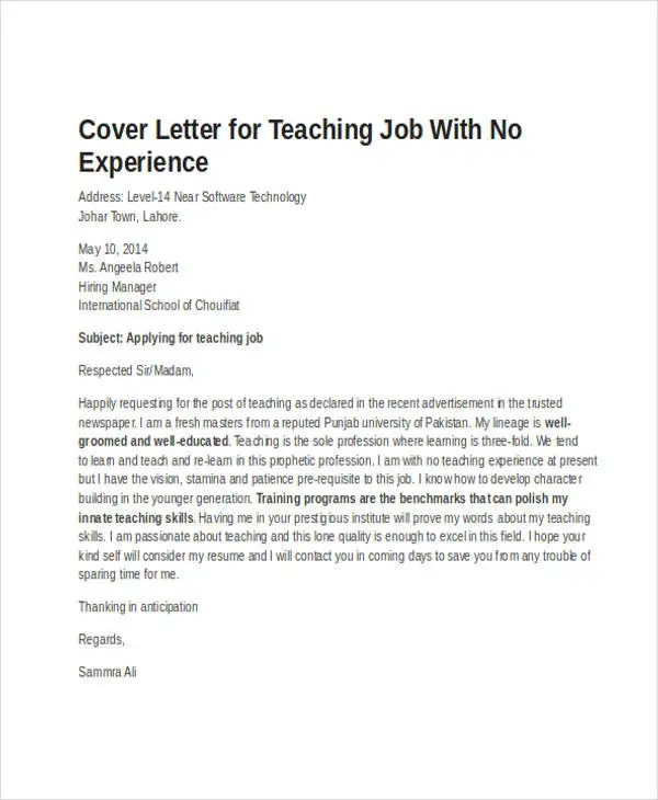 Job Application Letter Format Samples Examples 19 Job Application Letter Templates In Doc Free