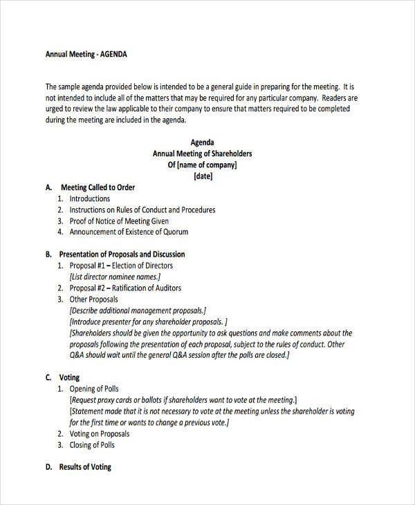 format agenda - Goalgoodwinmetals - Format For An Agenda