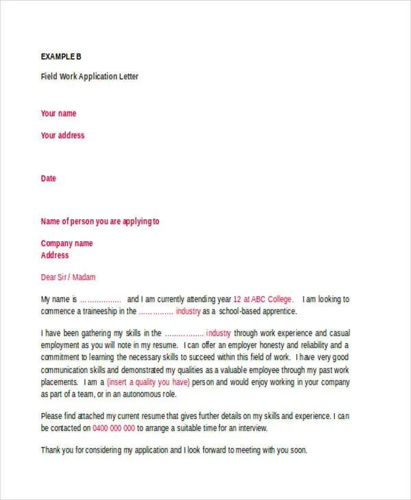what is an application cover letters