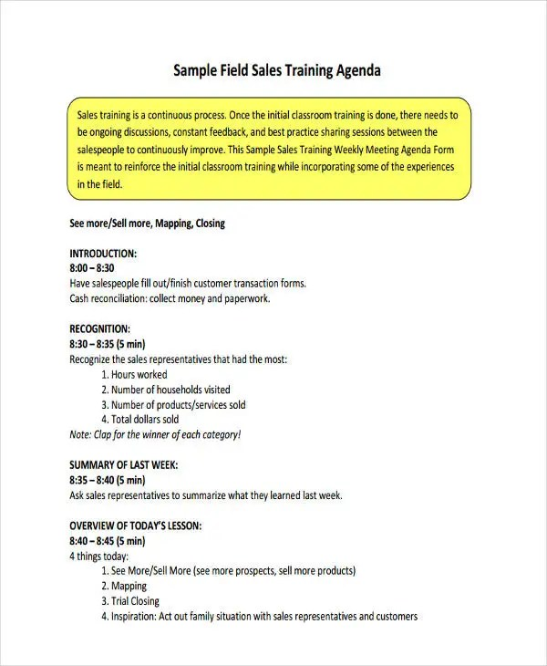 sample sales meeting agenda - Yelommyphonecompany - Sample Sales Meeting Agenda