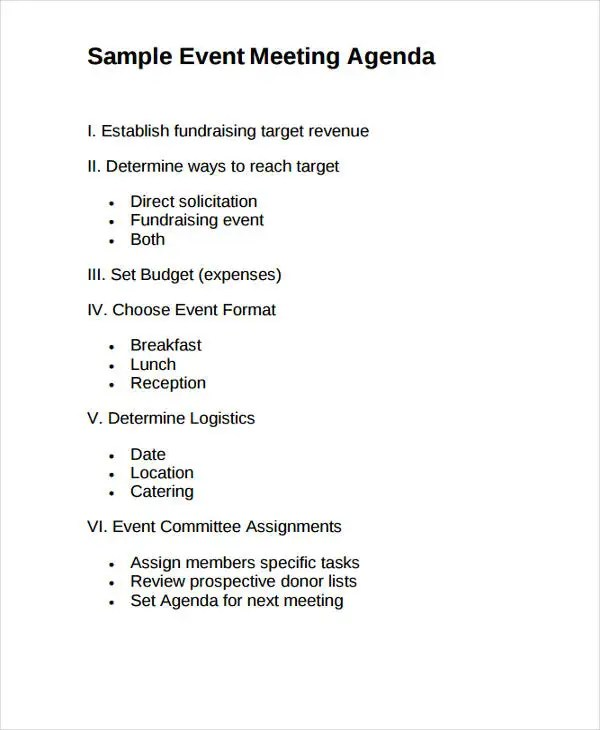 Meeting Program Sample  NodeCvresumePaasproviderCom