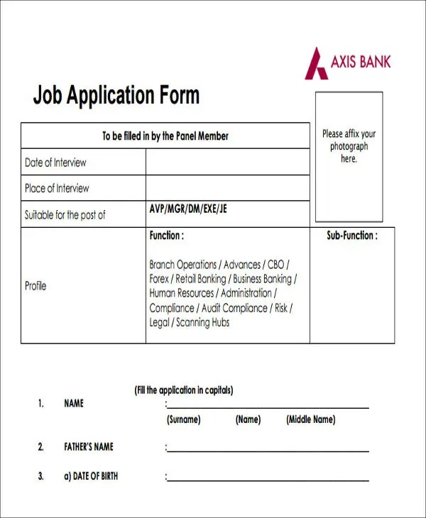 49+ Job Application Form Templates Free  Premium Templates