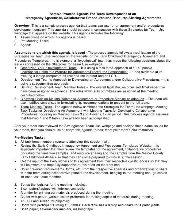 10+ Team Agenda Templates - Free Sample, Example Format Download