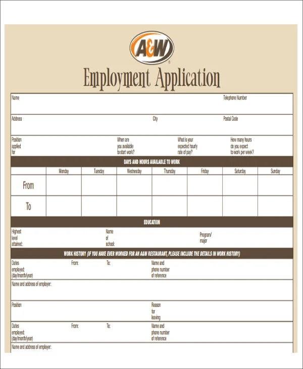 restaurant application form template - Minimfagency
