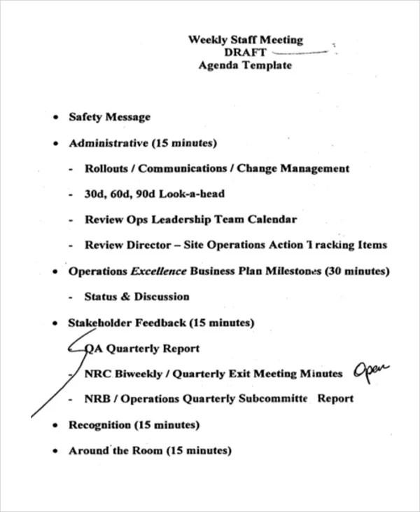 41+ Meeting Agenda Templates Free  Premium Templates
