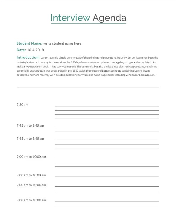 Agenda Template - 35+ Free Word,PDF Document Download Free - how to create a agenda