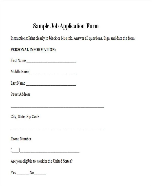 Job Application Form Template Doc Best Resumes Curiculum Vitae - application form in doc