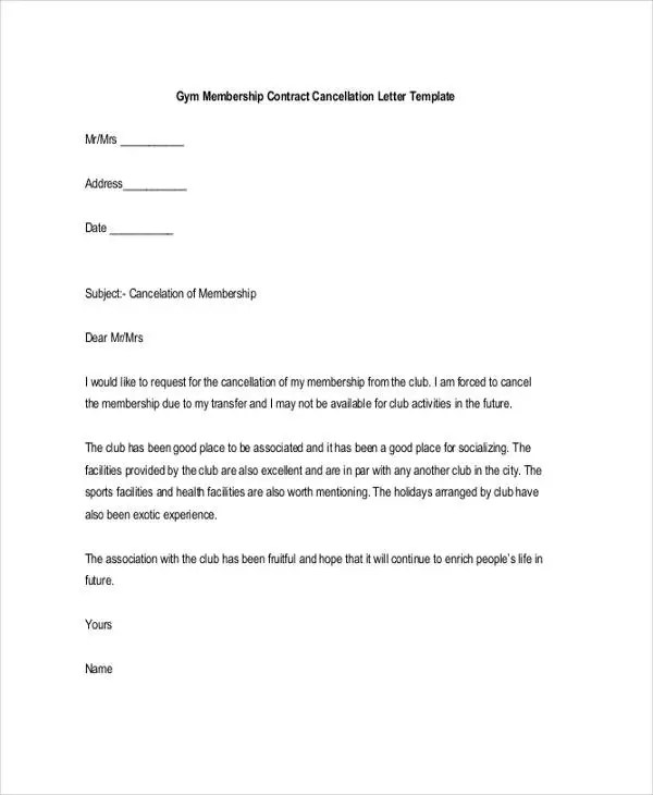 Membership Resignation Letters Template - 8+ Free Word, PDF Format - membership resignation letter