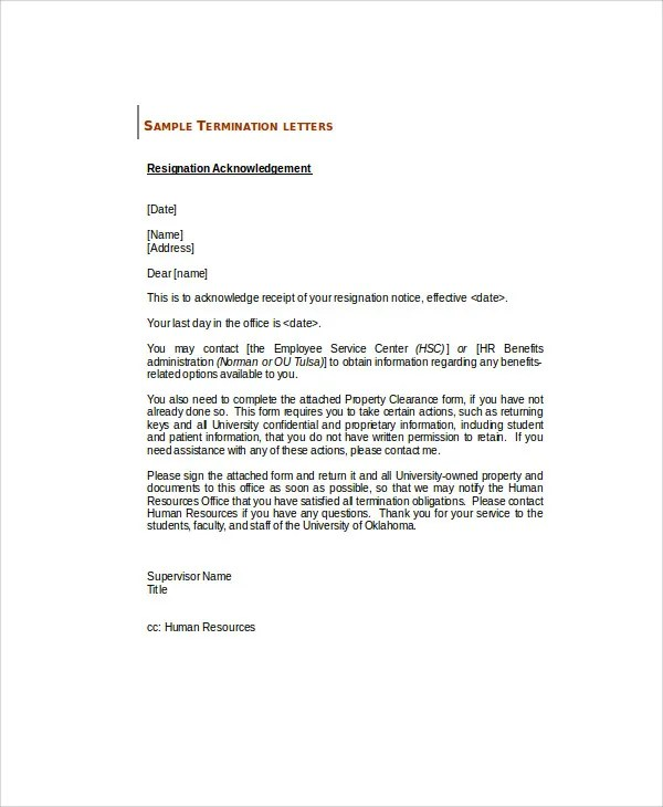 Sample Application Acknowledgement Letters - 8+ Free Sample, Example - acknowledgement receipt sample