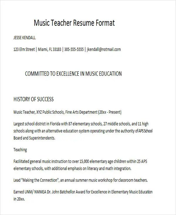 Resumes In Word Sample Resumes In Word High School Student Resume
