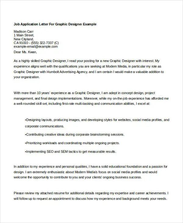 Graphic Designer Cover Letter Samples - Resume Examples ...