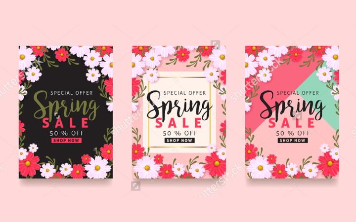 25+ Spring Design Templates Free  Premium Templates - sale poster design
