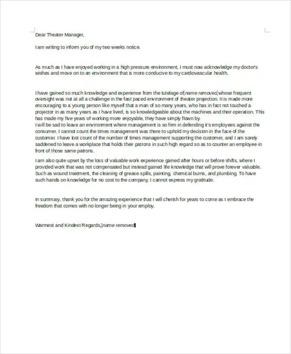 Rude Resignation Letters - 5+ Free Sample, Example Format Download - informal resignation letter