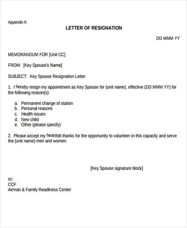 Heartfelt Resignation Letters - 9+ Free Sample, Example Format - heartfelt resignation letter